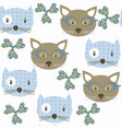 cat animals seamless pattern it is located in vector image