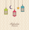 Celebration Islamic Card with Arabic Hanging Lamps vector image vector image
