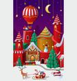 christmas winter wonderland vector image