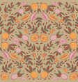 citrus lemon orange seamless repeat pattern design vector image vector image