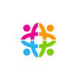 color people logo icon design vector image vector image