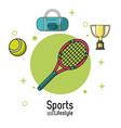 colorful poster of sports lifestyle with tennis vector image vector image