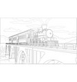 coloring page with 3d model train