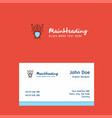 cyber security logo design with business card vector image