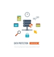 Data protection and safe work Investment vector image vector image