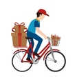 delivery worker service icon vector image vector image