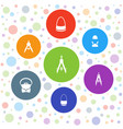 designer icons vector image vector image
