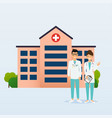 doctors in in medical uniform hospital on a vector image vector image