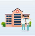 doctors in in medical uniform hospital vector image vector image