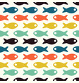 doodle fishes abstract fish pattern seamless vector image