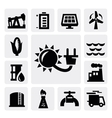 energy industry icon vector image vector image
