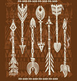 ethnic tribal arrows vector image vector image