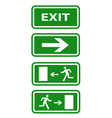 exit icons vector image