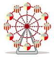 ferris wheel isolated on white background vector image