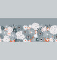 flower border abstract seamless border vector image