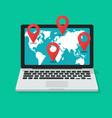 global international destination or navigation vector image
