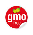 gmo free label tag red vector image