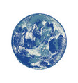 hand drawn earth planet sky view vector image vector image
