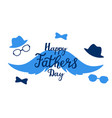 happy father s day hand drawn lettering greeting vector image vector image