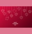 happy valentines day background with creative vector image vector image