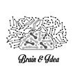Human organ Brain icon graphic vector image vector image