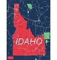idaho state detailed editable map vector image vector image