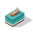 isometric container cargo ship delivery on water vector image vector image
