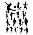 Junior soccer player detail silhouette
