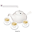 Korean Traditional Tea Set Popular Dink in South vector image vector image