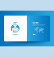 landing page design template for web site with vector image vector image