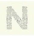 Letter N Golden Monogram Design element vector image vector image
