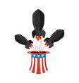 missile usa rocket fly of hat uncle sam american vector image vector image