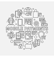 Mobile payments line sign vector image vector image