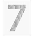 Number seven on a white background vector image