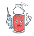 nurse strawberry smoothie character cartoon vector image vector image