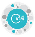 of financial symbol on vector image vector image