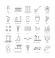 outline icon set vector image vector image