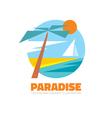 Paradise - logo creative vector image vector image