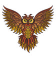 patterned owl vector image vector image