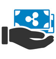 pay ripple banknotes flat icon vector image vector image