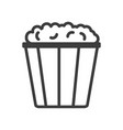 pop corn simple food icon in trendy line style vector image