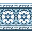 portuguese azulejo tile seamless pattern vector image