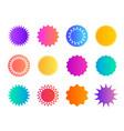 price sticker promo badge starburst shape star vector image