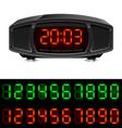 radio alarm clock vector image vector image
