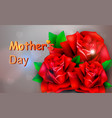 red rose concept mother s day vector image