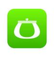retro purse icon digital green vector image