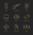 set logo design templates vector image vector image