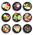 Set of delicious clean food menu vector image vector image