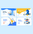 set of flat design web page templates vector image vector image