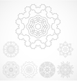 Set of geometric outline rosetta ornamet vector image